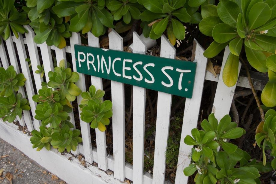 Princess Street Sign at Bay Street