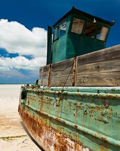 Old Freight Boat On Girls Bank