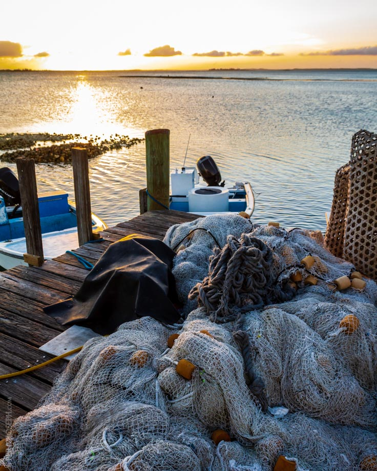Fishermens' Dock at Sunset