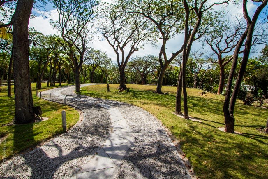 Expansive and Serene Landscaping at Pink Sands Resort